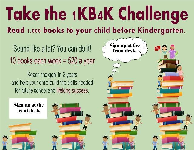Read 1000 Books Before Kindergarten