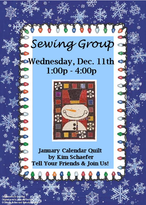 December Sewing Group