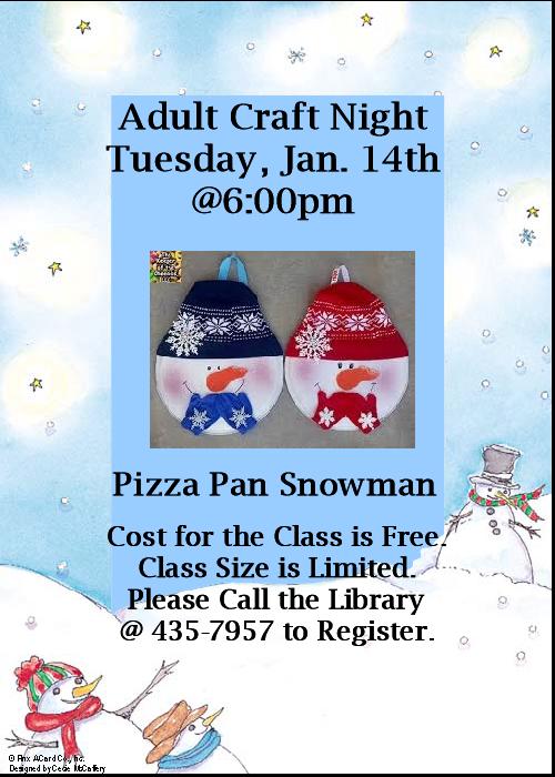 Pizza Pan Snowman